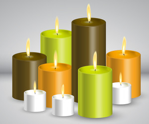 Vector Colorful Candles