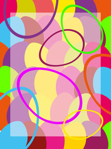 Vector Colorful Egg Pattern Background
