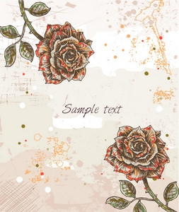 Vector Colorful Floral Background With Roses