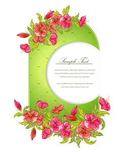 Vector Colorful Floral Frame