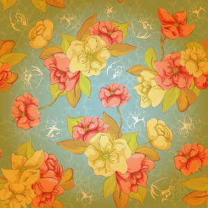 Vector Colorful Floral Pattern