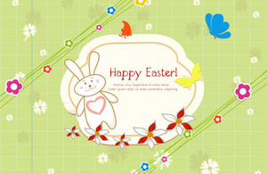 Vector Colorful Frame With Bunny