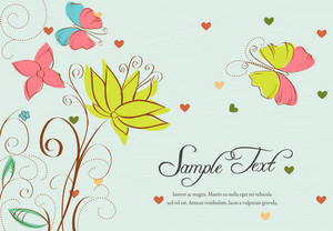 Vector Colorful Frame With Butterflies