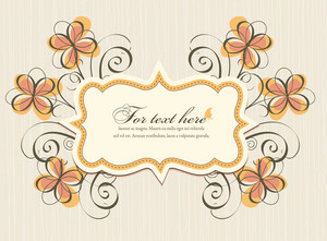 Vector Colorful Frame With Floral