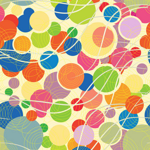 Vector Colorful Pattern With Geometric Shapes