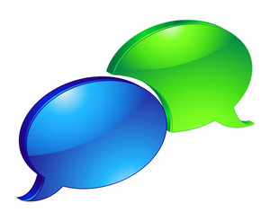 Vector Colorful Speech Bubbles