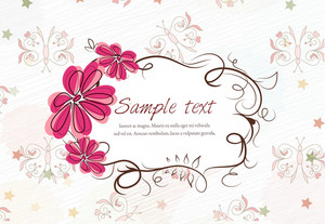 Vector Colorful Spring Frame