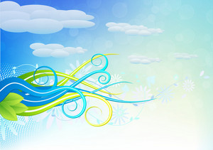 Vector Colorful Swirls Background
