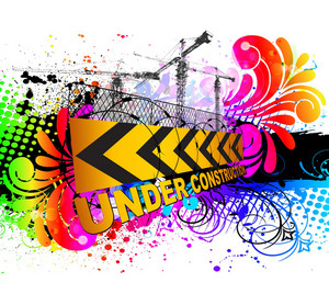 Vector Colorful Under Construction Sign