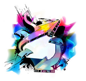 Vector Colorful Urban Background