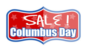 Vector Columbus Day Sale Banner