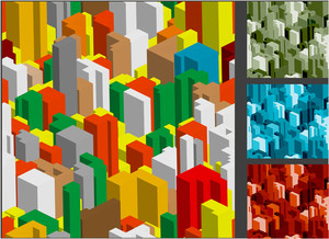 Vector Construction Seamless Background Set.