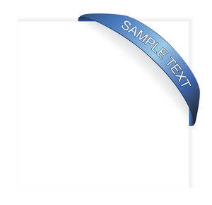 Vector Corner Ribbon