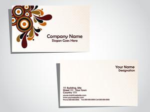 Vector Creative Artwork Pattern Business Card