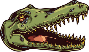 Vector Crocodile