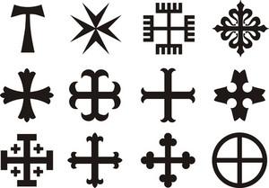 Vector Crosses - Religious Symbols
