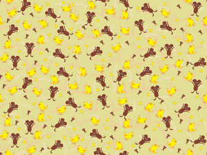 Vector Cute Animal Pattern Wallpaper
