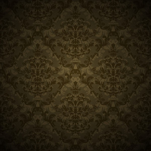 Vector Damask Floral Pattern