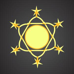 Vector Decorative Stars Ornament