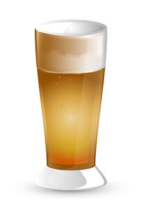 Vector Design Beer Glass