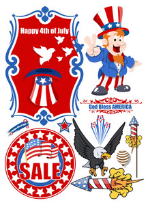Vector Design Kit For Independence Day Celebration