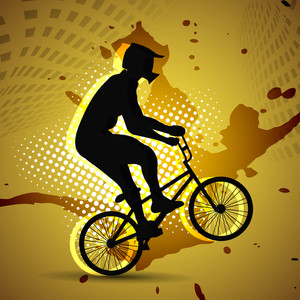 Vector Design Of Bmx Cyclist