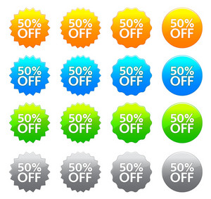 Vector Discount Labels Set
