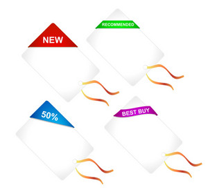 Vector Discount Shopping Tags Set