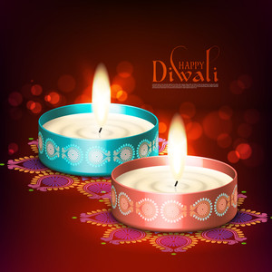 Vector Diwali Candle Light
