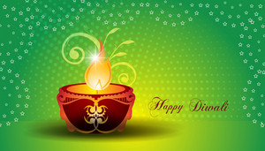Vector Diwali Greeting Card