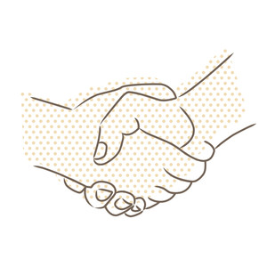 Vector Drawing Of Handshake
