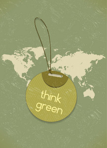 Vector Eco Friendly Shopping Tag