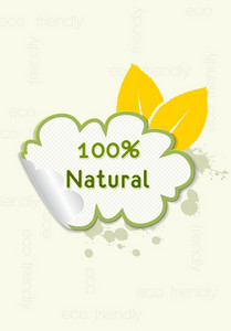 Vector Eco Friendly Sticker
