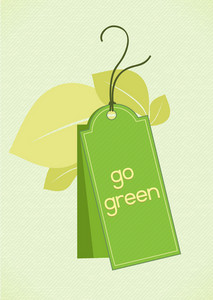 Vector Eco Friendly Tag