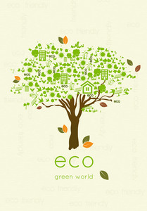 Vector Eco Friendly Tree