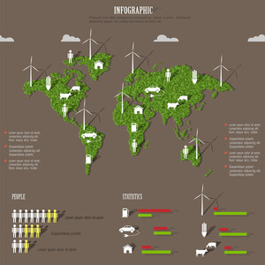 Vector Eco Infographic Elements