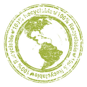 Vector Eco Stamp With Planet Earth