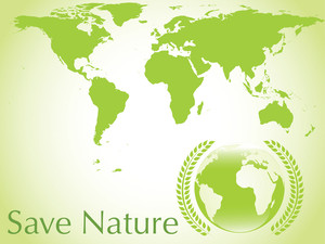 Vector Ecologica Earth Background