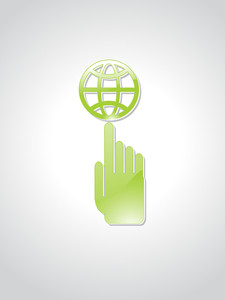 Vector Ecology Icon With Background