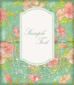 Vector Elegant Floral Invitation