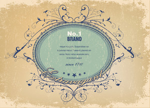 Vector Elegant Label With Grunge Background