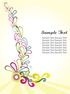 Vector Element Floral Background