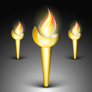 Vector Element Of Flamming Torch