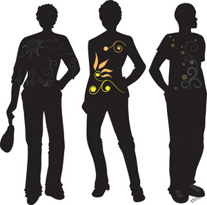Vector Fashion Men Silhouettes