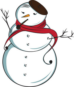 Vector Fashion Snowman