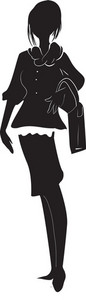 Vector Fashion Woman Silhouette