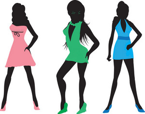 Vector Fashion Women Silhouettes