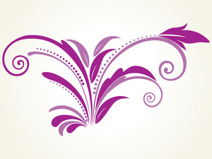 Vector Filigree Pattern With Background