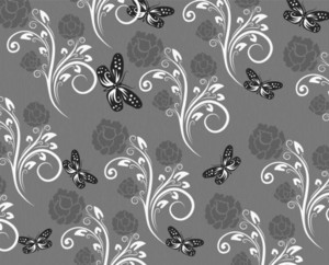 Vector Floral Background With Butterflies