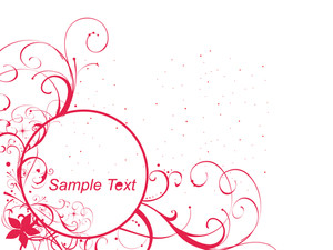 Vector Floral Background With Sample